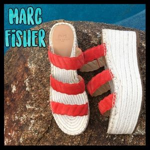 🌈NWT🌈Marc Fisher beautiful espadrille platforms